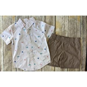 Nwt Carter's 2 piece boys shorts and shirt set 2T
